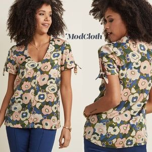 NWOT ModCloth Ideal Discovery Short Sleeve Blouse